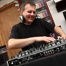 DJ Mark on his decks and some of the equipment he supplied for an event for disabled children at the