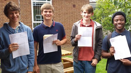 Mark Becles, Simon Davies, Lewis Barnes and James Cross from Stanborough School
