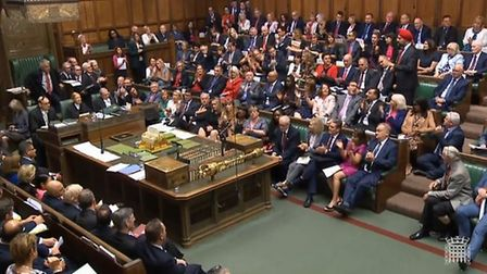 Tanmanjeet Singh Dheshi is applauded in the House of Commons. Photograph: Parliament TV.