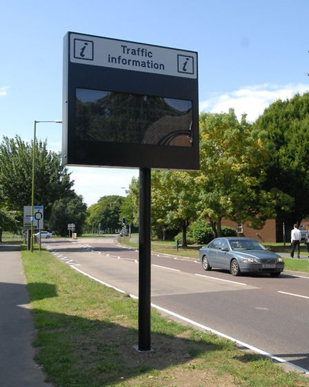 Traffic sign on Broadwater Road