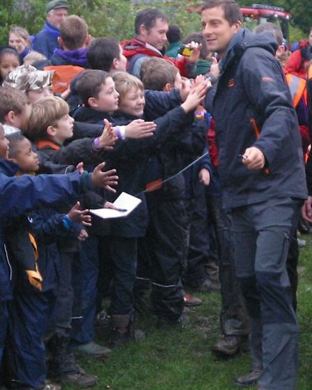 Bear Grylls meets scouts, cubs, beavers
