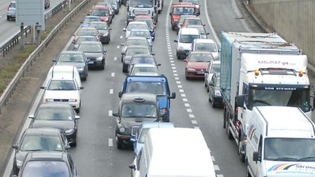 There is heavy traffic on the A1(M) after a crash at Welwyn