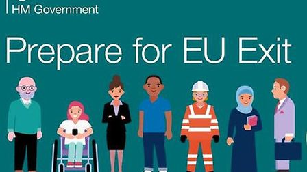 One of the government's graphics promoting Brexit. Photograph: Government.