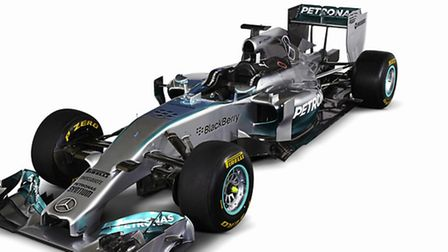 The new Mercedes F1 W05 car that Lewis Hamilton will race this year [Daimler - Mercedes-Benz]
