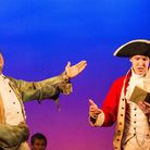 Divyesh Thakerar as Sideway and Jack Swanson as Lieutenant Clark in Our Country's Good at the Barn T