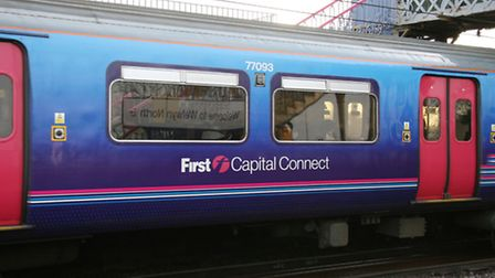 First Capital Connect train passes through Welwyn North Station