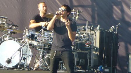 Example on stage at the 2012 V Festival