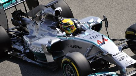 Lewis Hamilton on track in Bahrain [Picture: Sean Ramsell]