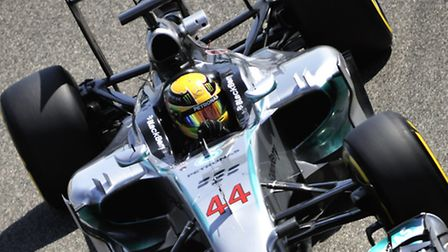 Mercedes Formula One driver Lewis Hamilton in testing in Bahrain [Picture: Sean Ramsell]