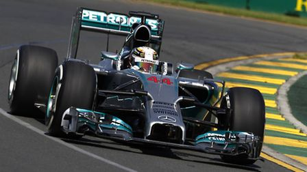 Lewis Hamilton on track in his Mercedes ahead of 2014 Australian Grand Prix qualifying [Picture: Mer