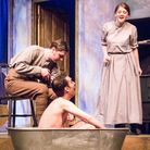 Richard Cartwright as Tom, Tallan Cameron as Ralph and Kim Southey as Eve in The Accrington Pals [Pi