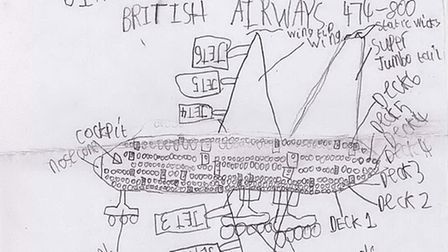 Andrew Newberry sent this design of a plane to Boeing