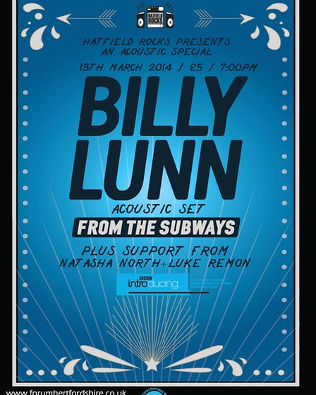 Hatfield Rocks with Billy Lunn from The Subways