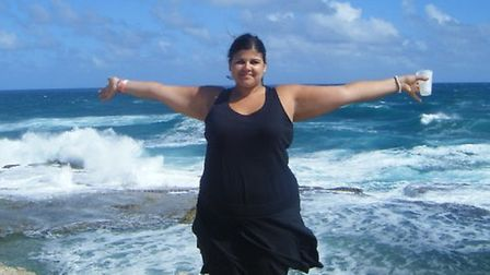 Kelsey Arif, from Brookmans Park, before she lost 10 stone