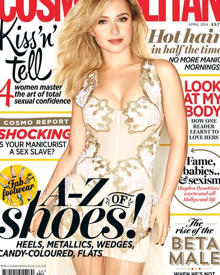 Kelsey Arif appears in the April issue of Cosmopolitan magazine