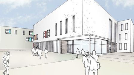 An artist's impression of the how the rebuilt Bishop's Hatfield Girls' School will look.