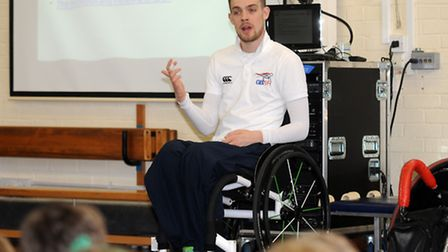 Great Britain wheelchair rugby player Chris Ryan