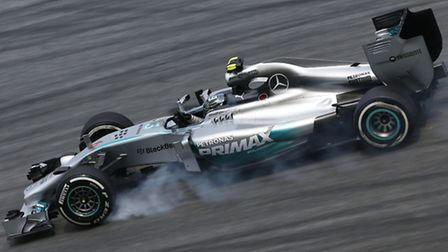 Mercedes' Nico Rosberg on track in Sepang ahead of the 2014 Malaysian Grand Prix [Picture: Mercedes-
