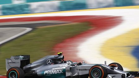 Nico Rosberg on track in Sepang ahead of the 2014 Malaysian Grand Prix [Picture: Mercedes-Benz]