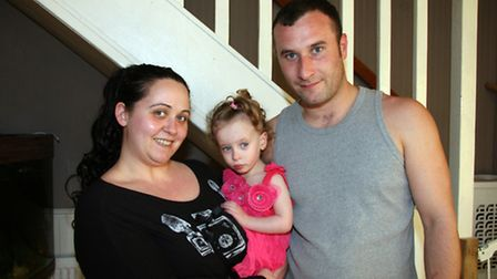 Tracy & David Farrer with daughter Demi, 21 months