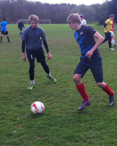 The budding footballers being put through their paces