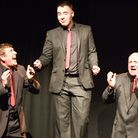 Peter Dawson, Joshua Banks and Jim Kinloch in Bouncers at the Barn Theatre in Welwyn Garden City [Pi