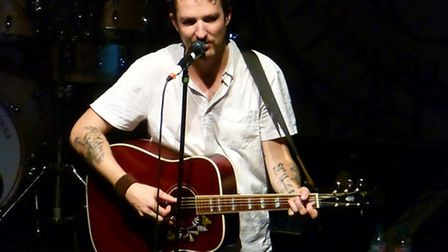 Frank Turner on stage [Picture: Alan Davies]