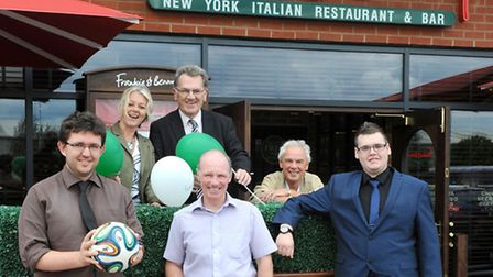 Wisbech Sports Awards 2014 launch at Queen Mary Centre and Frankie & Bennys, Wisbech. Left:Tom Jacks