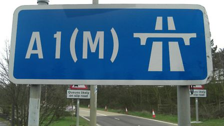 There will be road closures on the A1(M) in Hertfordshire