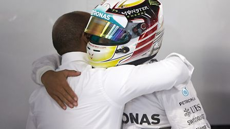 Lewis Hamilton congratulated on winning the 2014 Italian Grand Prix at Monza [Picture: Mercedes-Benz