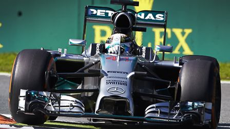 Lewis Hamilton driving in the 2014 Italian Grand Prix at Monza [Picture: Mercedes-Benz]