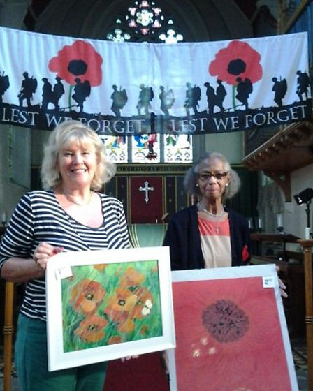 WW1 poppies event at St Augustine's Church, Wisbech