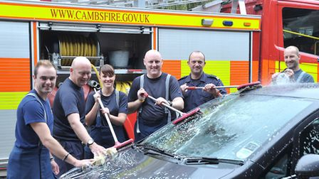 Charity car wash at Wisbech fire station, Picture: Steve Williams.