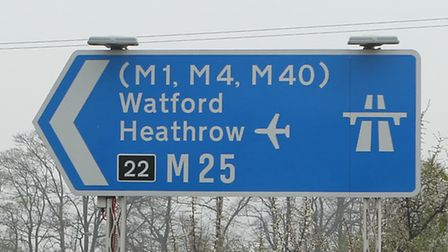 The M25 is closed between Junctions 22 and 21A for St Albans, causing huge delays anti-clockwise in