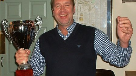 Stewart McCurry, with the Portland Cup.