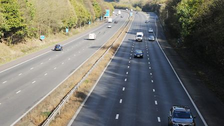 The lane arrangement will be altered northbound near Welwyn heading towards Stevenage.