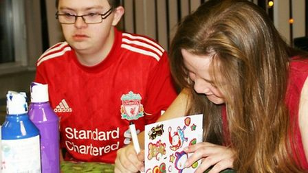Fun United Clubs have Christmas card making sessions for people with special needs in Fenland