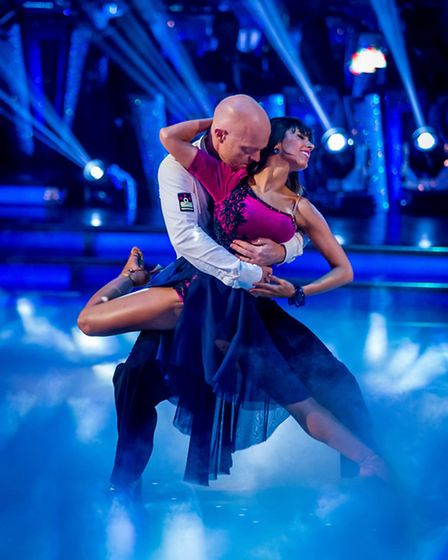 Janette Manrara and Jake Wood during their rumba [Picture: BBC / Guy Levy]