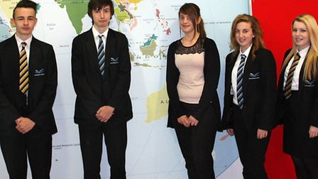 From left: Connor Parker, Joseph Moore, Courtney Wakeham, Jodie Gardner and Ella Chadney.