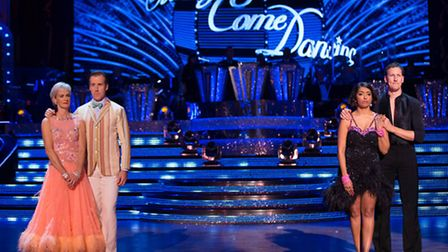 The bottom two couples at Blackpool - Judy Murray and Anton Du Beke, and Sunetra Sarker and Brendan