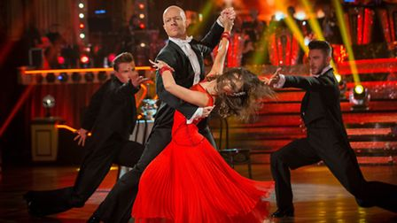 Janette Manrara and Jake Wood at Blackpool [Picture: BBC/Guy Levy]