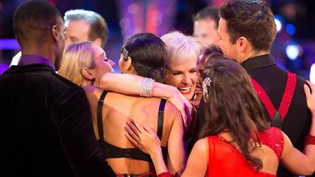 Judy Murray says goodbye to Strictly [Picture: BBC/Guy Levy]