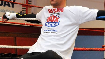 Billy Joe Saunders during a media training session