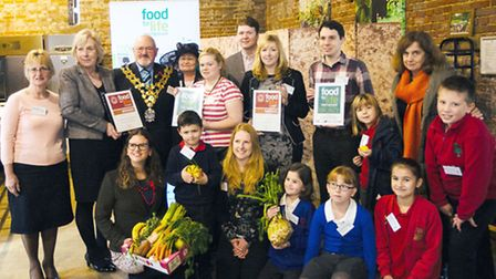 Wisbech Town Mayor and Mayoress award three schools in the town for healthy eating as part of the Fo