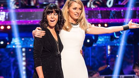 Tess Daly welcomes back Claudia Winkleman [Picture: BBC / Guy Levy]