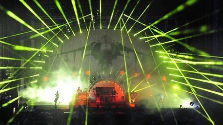 The Prodigy headlined the main Apollo Stage on the opening night of Sonisphere 2014 at Knebworth Par