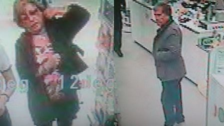 Police want to speak to these people in connection with a bag theft in Boots, WGC.