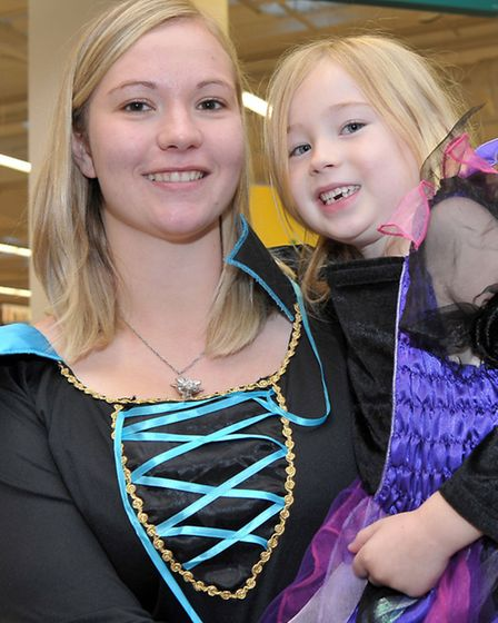 Sue Ryder Halloween charity event at Morrisons, Wisbech. Morrisons community champion Carly Oakley w