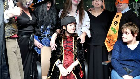 New beginnings charity for adults with disabilities decked out for Halloween. Picture: Steve William
