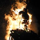 The bonfire at Hatfield House's fireworks display